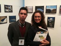 Eu e Cristiane (Responsável pelo CsF em Madri) outro tesouro e privilégio dos bolsistas