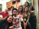 Tocha, Clarisse, Danieli, Eu, Lívia, Paula Barrios e Felipe