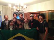 Aniversário da Larissa - Edson, Paulinha, Felipe, Eu Larissa, Ramom, Fiona, David e Túlio