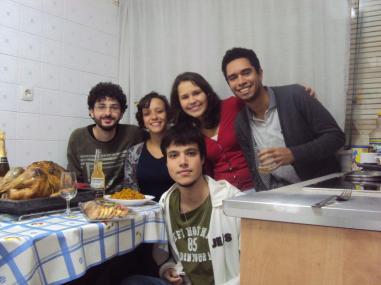 João, Gheysla, Paulo, Larissa e Eu