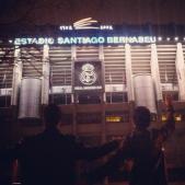 Paulo e Eu no estádio Santiago Bernabeu